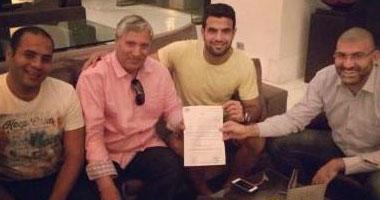 أحمد جعفر+ أحمد جعفر أثناء التوقيع لنادى إنبى