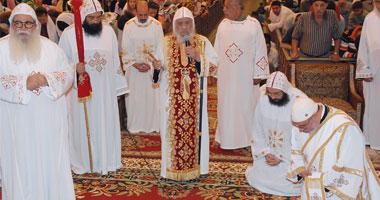 """بالصور .. ابينا الحبيب مثلث الرحمات فى قداس خميس العهد """" 2008 """" فى دير الانبا بيشوى"""