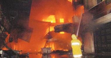 حريق هائل في مهرجان الجنادرية يصيب ١٢ شخصا Har320082212740