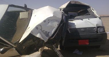 انقلاب سيارة فى المنيا - صورة أرشيفية