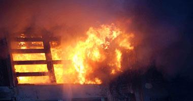 الحريق أسفر عن إصابة أحد الفلاحين - صورة أرشيفية