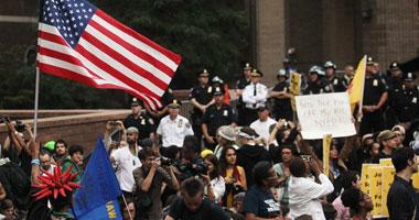 اعتقال 129 من المتظاهرين المناهضين لوول ستريت فى بوسطن