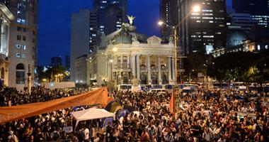 جانب من مظاهرات البرازيل