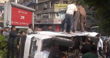 """إصابة 10 طلاب فى انقلاب ميكروباص بطريق """"بسيون - طنطا"""""""