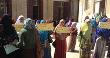 """طالبات """"الإخوان"""" يقطعن الطريق بين """"أزهر البنات"""" والمدينة الجامعية"""