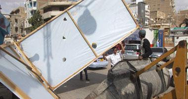 غلق ملعب وسايبر وإزالة إشغالات فى حملة أمنية بالجيزة
