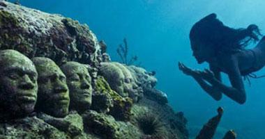 بالصور.. متحف تحت الماء لحماية الشعب المرجانية بالمكسيك