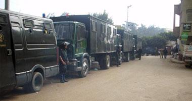 شهدت الدوائر الانتخابية بالمنوفية انتشار قوات الأمن حول اللجان