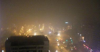 شبورة كثيفة تغطى سماء القاهرة