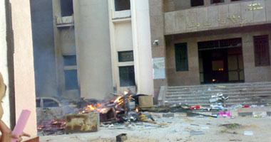 تدمير قسم شرطة محلة دمنة