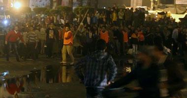 اشتباكات الباعة الجائلين والمعتصمين التحرير