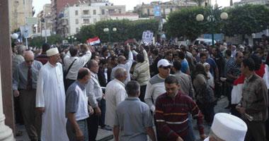 مظاهرات حاشدة بميدان الشون بالمحلة تطالب بإسقاط النظام S11201223164744
