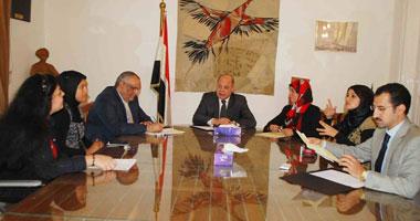 بالصور.. وزير الثقافة يلتقى بوفد المجلس القومى لشئون الإعاقة