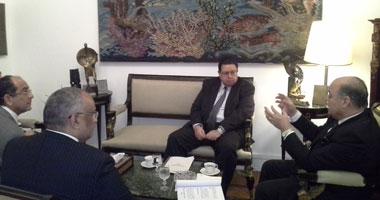 عرب يلتقى بهاء الدين لتحضير جدول أعمال لجنة صناعة السينما