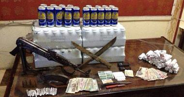 ضبط 2 بندقية آلية و3 كيلو بانجو فى حملة أمنية بجهينة سوهاج