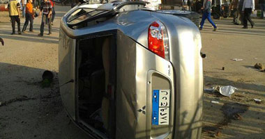 مصرع وإصابة 4 أشخاص إثر انقلاب سيارة ملاكى على الطريق الدولى بكفر الشيخ S1120132220434