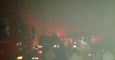 الحماية المدنية تسيطر على حريق محطة وقود عزبة فودة بالمحلة