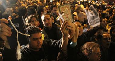 مظاهرة صاخبة بمنطقة شبرا تنديدا بأحداث كنيسة إسكندرية
