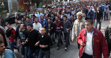 جانب من المظاهرات الغاضبة فى السويس