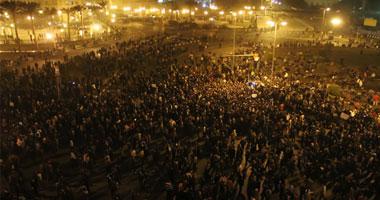 متظاهرو التحرير يسجدون لله بعد رحيل مبارك