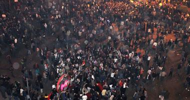 المتظاهرون يغلقون كوبرى أكتوبر وشارع ماسبيرو