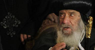 البابا شنودة يعرب عن سعادته لتولى الجيش إدارة مصر