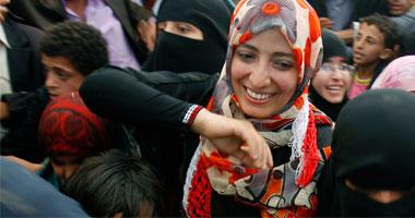 """توكل كرمان الناشطة السياسية اليمنية الحاصلة على جائزة """"نوبل"""""""