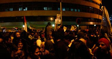 متظاهرو ماسبيرو يقرروا الإعتصام ويبدأون
