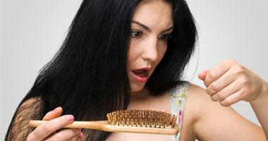 القلق التفكير تساقط الشعر