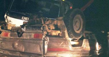 مصرع طفلة وإصابة 9 آخرين فى حادث انقلاب سيارة على طريق مطروح