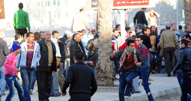 تجدد الاشتباكات الإخوان والمتظاهرين سموحة بالإسكندرية