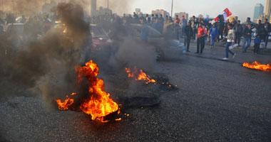 محتجون يقطعون كوبرى أكتوبر