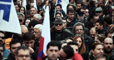 متقاعدون فى اليونان يحتجون على تبنى الحكومة حزمة جديدة من الاقتطاعات
