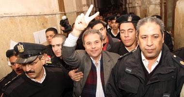 28مارس الحكم الاستئناف تغريم عكاشة جنيه لسبه المرشد