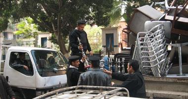 إخلاء المقاهى والكافيهات المقامة بدون ترخيص بحى غرب القاهرة إدارياً