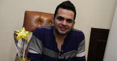 """بالصور.. محمود محيى يحتفل بلقب ستار أكاديمى فى """"اليوم السابع"""""""