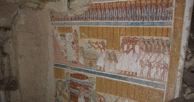اكتشاف مقبرة خونسو أم حب بمنطقة البر الغربى بالاقصر