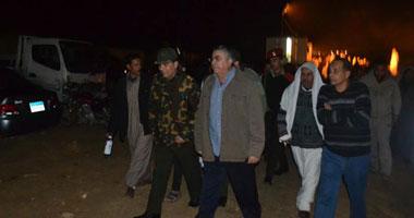 اللواء طارق مهدى محافظ الإسكندرية خلال الجولة