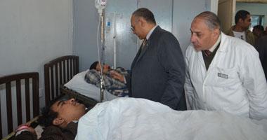 المصابون بالمستشفى