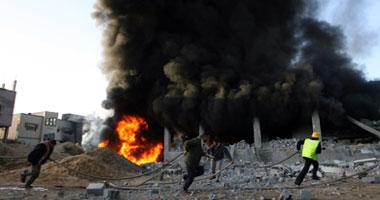 ثلاث غارات جويه إسرائيليه مدينة الفلسطينيه 2012 s12200828122936.jpg