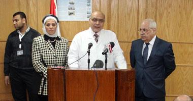 الدكتور بهاء أبو زيد مدير عام معهد ناصر خلال المؤتمر الصحفى