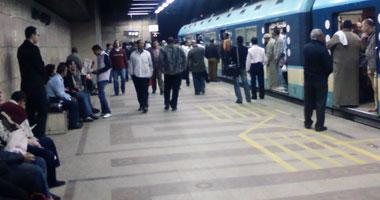 عودة حركة المترو بعد اشتباكات بين الركاب والمعتصمين