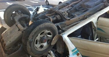 إصابة 4 أشخاص ووالدتهم فى انقلاب سيارة ببلطيم فى كفر الشيخ