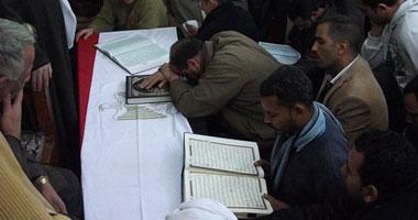 جانب من مراسم تشييع الجنازة