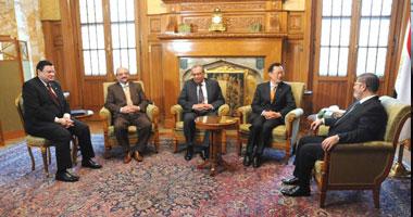 جانب من لقاء مرسى برئيس اتحاد الناشرين