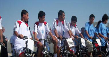 انتهاء المهرجان الرياضى للدراجات بميدان التحرير