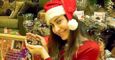 صور فنانين بزي بابا نويل 2015, فنانات في احتفالات الكريسماس 2015