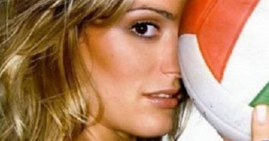 فرانشيسكا بيشينينى لاعبة المنتخب الإيطالى للكرة الطائرة