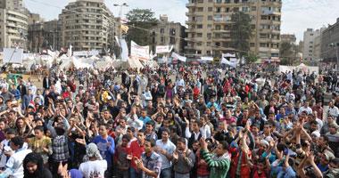 توافد المتظاهرين على ميدان التحرير للاحتجاج على فض اعتصام الاتحادية