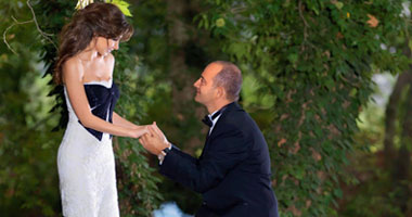 الإفراج عن صور زفاف نور ونانسى بعد شهرين